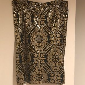 Gold Sequins Skirt w/ Black lining